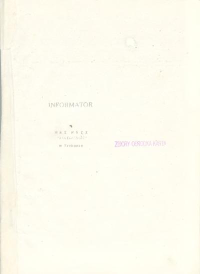 Informator MKZ NSZZ Solidarność w Krakowie, 10.10.1980