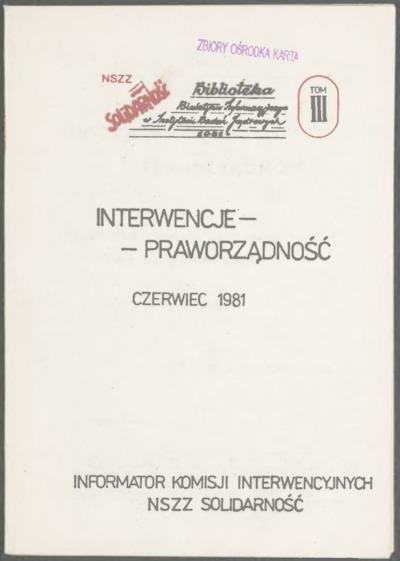 Interwencje - Praworządność, nr 3