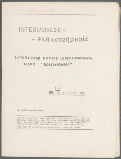 Interwencje - Praworządność, nr 4