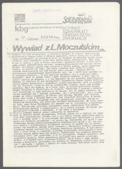KBG - Kombinat Budowlany w Gdyni, nr 17