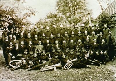 Orkiestra strażacka w Dąbrówce
