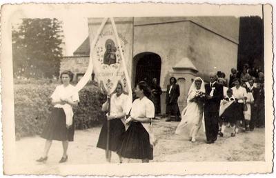 13.07.1952. Łabiszyn. Ślub Teresy Wiatr i Stanisława Masalskiego