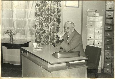 31.05.1977. Marian Turwid na spotkaniu autorskim w Łabiszynie