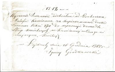 1868. Pokwitowanie zapłaty