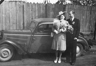 1939-1945. Tadeusz Przybylski (1918-1946) z żoną Stanisławą Danutą (1921-1999)