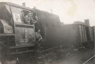 1958. Drużyna parowozowa w stacji Węgliniec