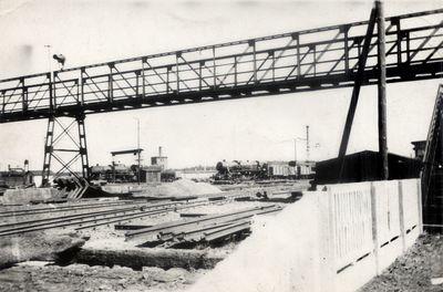 1958. Widok na parowozownię w Węglińcu