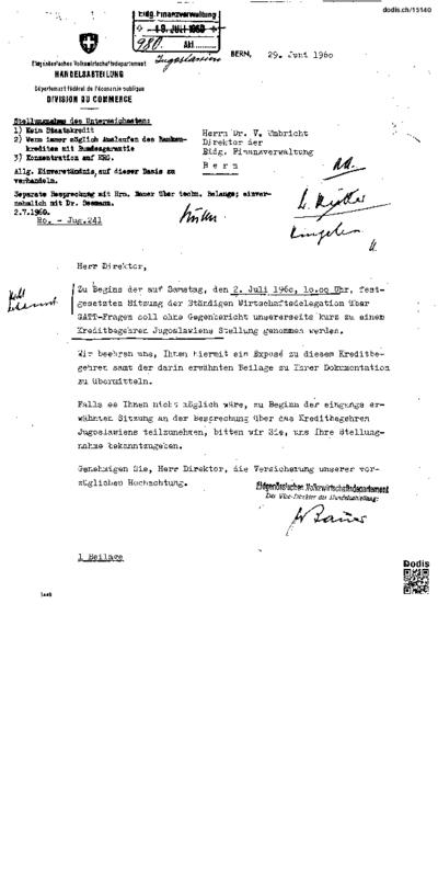 Schreiben an Umbricht Victor Hermann (1915-1988)