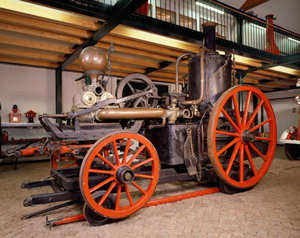 Pferdegezogene Dampfspritze Alte Liese