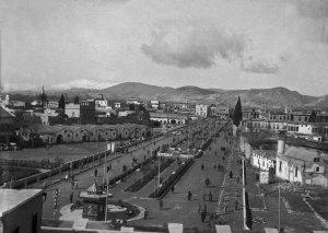 Damascus, Blick von der Zitadelle auf Dschemal