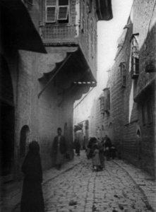 Aleppo, Straßenbild im Viertel von Aleppo