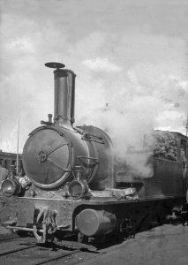 Lokomotive von Damascus nach Rajuk auf Bahnhof Rajuk