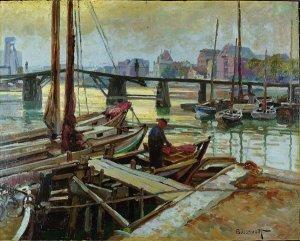 Eckernförder Hafen mit Holzbrücke