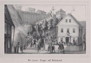 Die grosse Treppe auf Helgoland