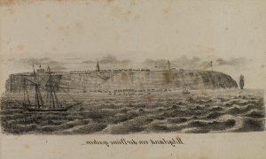 Helgoland von der Düne gesehen
