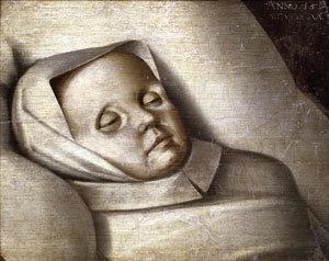 Brustbild eines toten Kindes