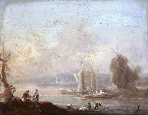 Schiffe am Felsufer