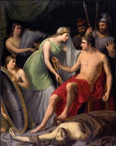 Achilles an der Leiche des Patroklus