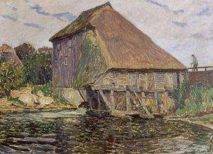 Mühle in Lutterbek (mit Figur)