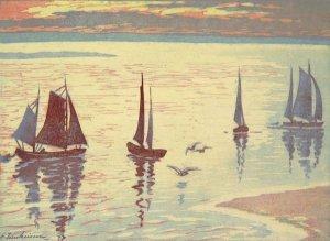 Fischerboote auf der Elbe