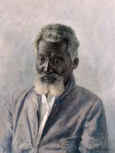 Portraitstudie/ Study of an old Bahama Darky