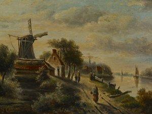 Windmühle am Fluß