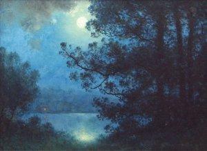 Mondlicht/Moonlight on lake