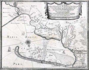 Tabula Geographica exhibens districtum inter Weichselmundam et promon