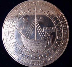 5 Gulden Münze der Danziger Seeschiffer