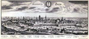 Stadtansicht Danzig - Dantiscum/ Dantzig