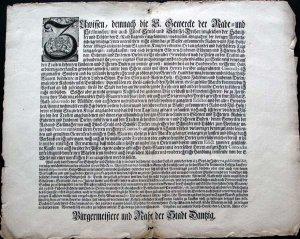 Ratsverordnung von 1730