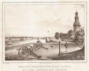 Festung Weichselmünde bei Danzig mit dem Ausfluss der Weichsel