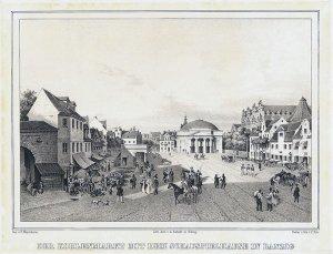 Der Kohlenmarkt mit dem Schauspielhause in Danzig