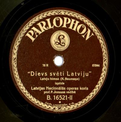 Dievs, svētī Latviju : latvju himna
