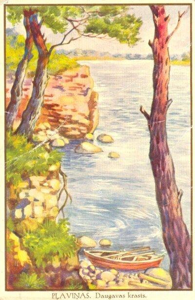 Daugavas krasts pie Pļaviņām