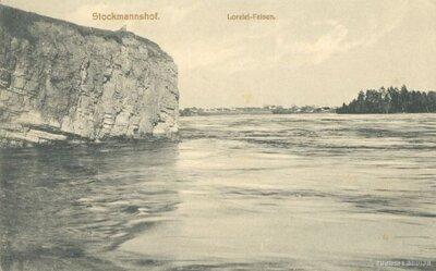 Lorelejas Nāru klints. Daugava pie Pļaviņām
