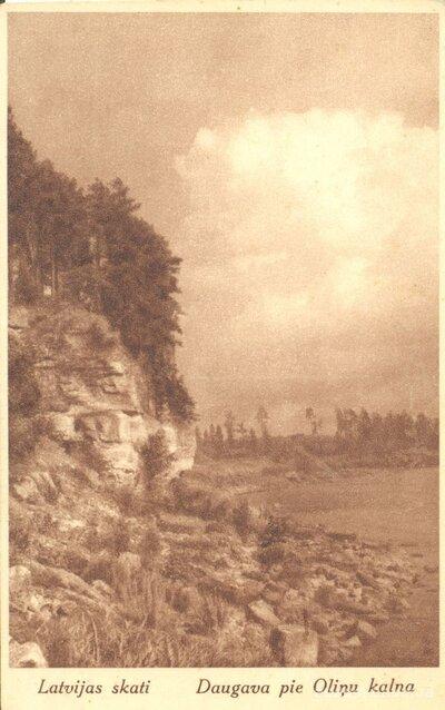 Latvijas skati. Daugava pie Oliņu kalna
