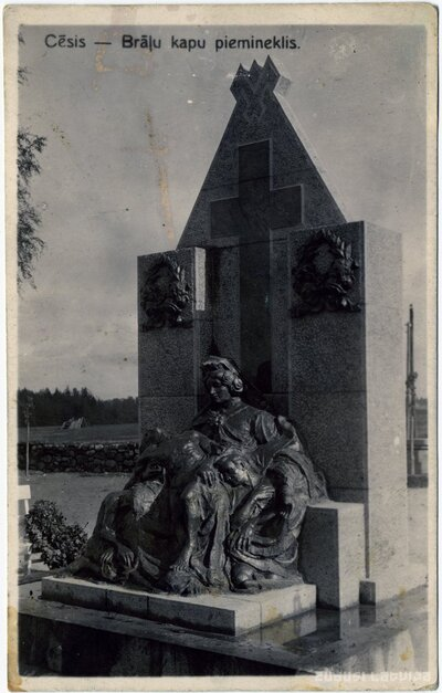 Cēsis. Piemineklis Pirmajā pasaules karā un Brīvības cīņās kritušajiem karavīriem