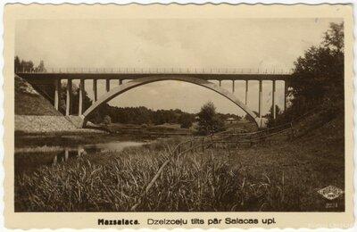 Mazsalaca. Dzelzceļa tilts pār Salacas upi