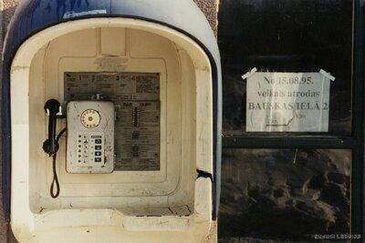 Rīga. Telefona automāts Bauskas ielā