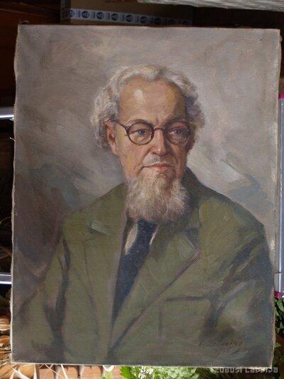 Indriķa Zeberiņa gleznas fotogrāfija