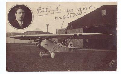 Nikolajs Pūliņš un lidmašīna Ikars