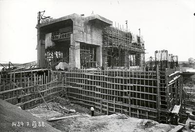 Ķeguma spēkstacijas ēkas būvdarbi. 1938.gada 7.jūlijs