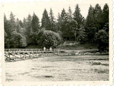 Ogre. Tiltiņš pie peldētavas