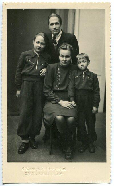 Cēsis. Bērziņu ģimene
