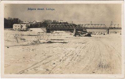 Jelgava ziemā. Lielupe