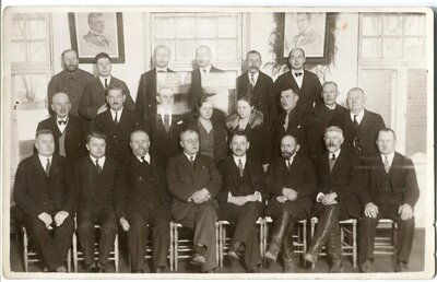 Arvīds Prauliņš un citi lauku krāj-aizdevu sabiedrības pārstāvji
