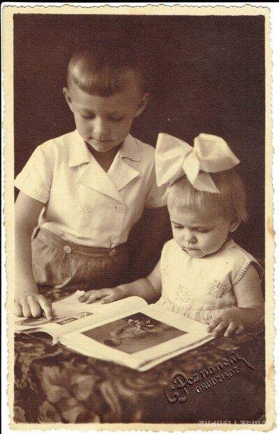 Neatpazītas meitenes un zēna portrets
