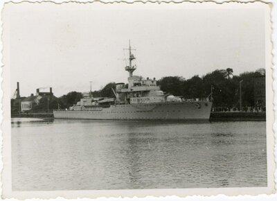 Liepāja. Vācu mācību kara kuģis