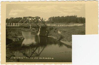 Tilts pār Cieceres upi pie Skrundas